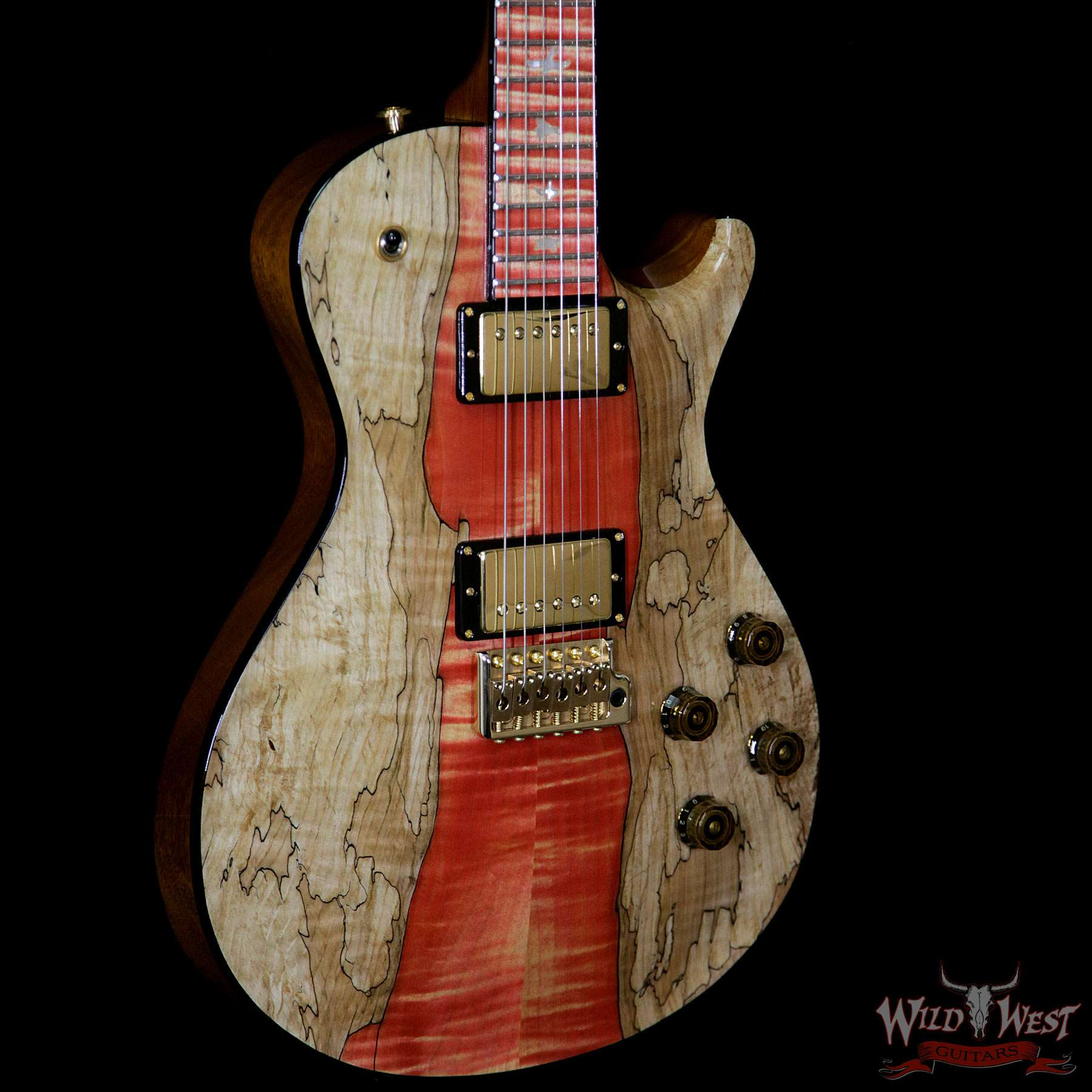 prs private stock 8058 mccarty singlecut 594 tremolo flame spalted maple top natural with. Black Bedroom Furniture Sets. Home Design Ideas