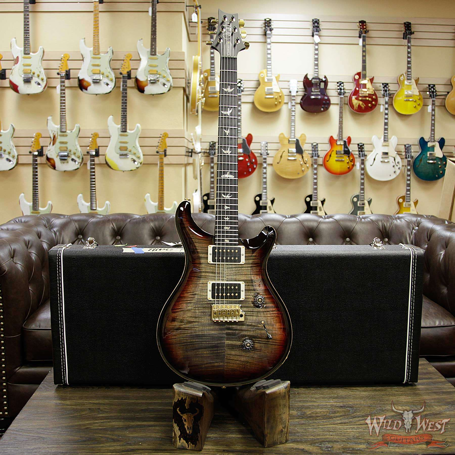 PRS 2018 Experience 10 Top Custom 24 Flame Top East Indian ...