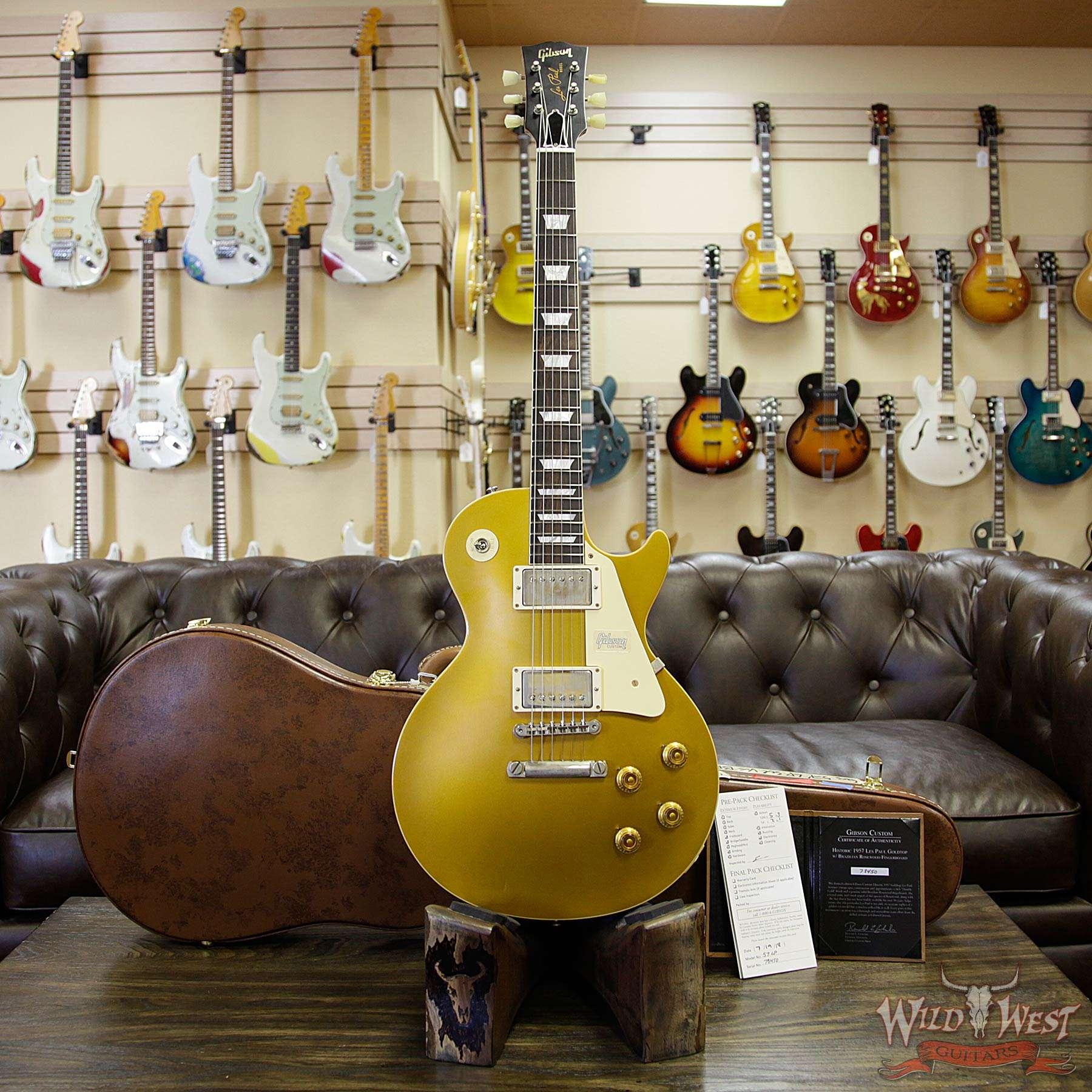 Gibson Custom Shop Historic 57 Les Paul Standard VOS Brazilian Rosewood  Fingerboard Goldtop 9 25 Lbs