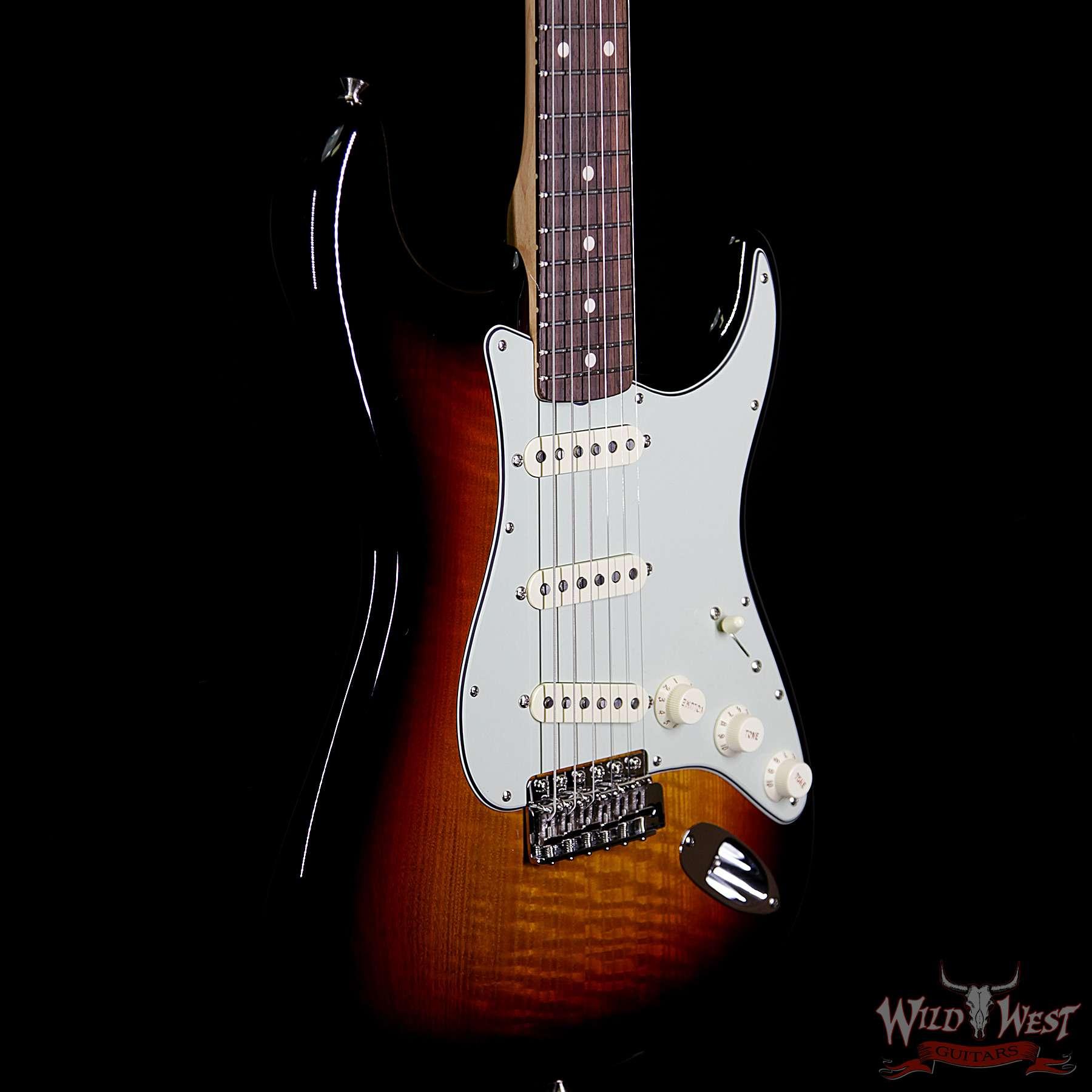 Fender Custom Shop Greg Fessler Masterbuilt Flamed Sassafras 1960  Stratocaster NOS w/ Josefina Pickups 3 Tone Sunburst