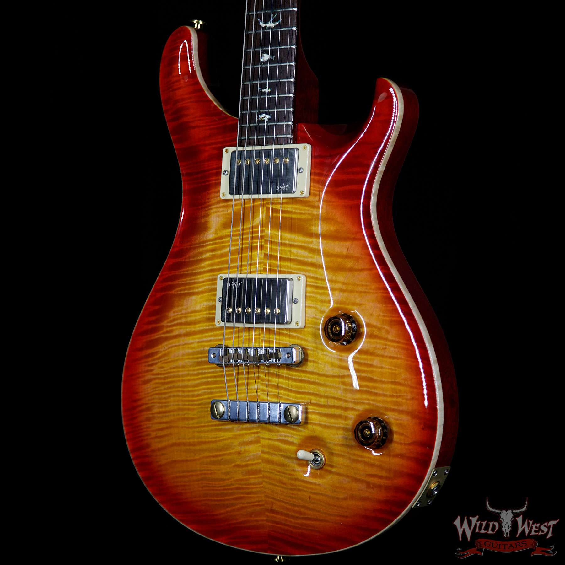 2010 prs private stock 2708 flame top custom 22 vintage cherry burst with paul reed smith. Black Bedroom Furniture Sets. Home Design Ideas
