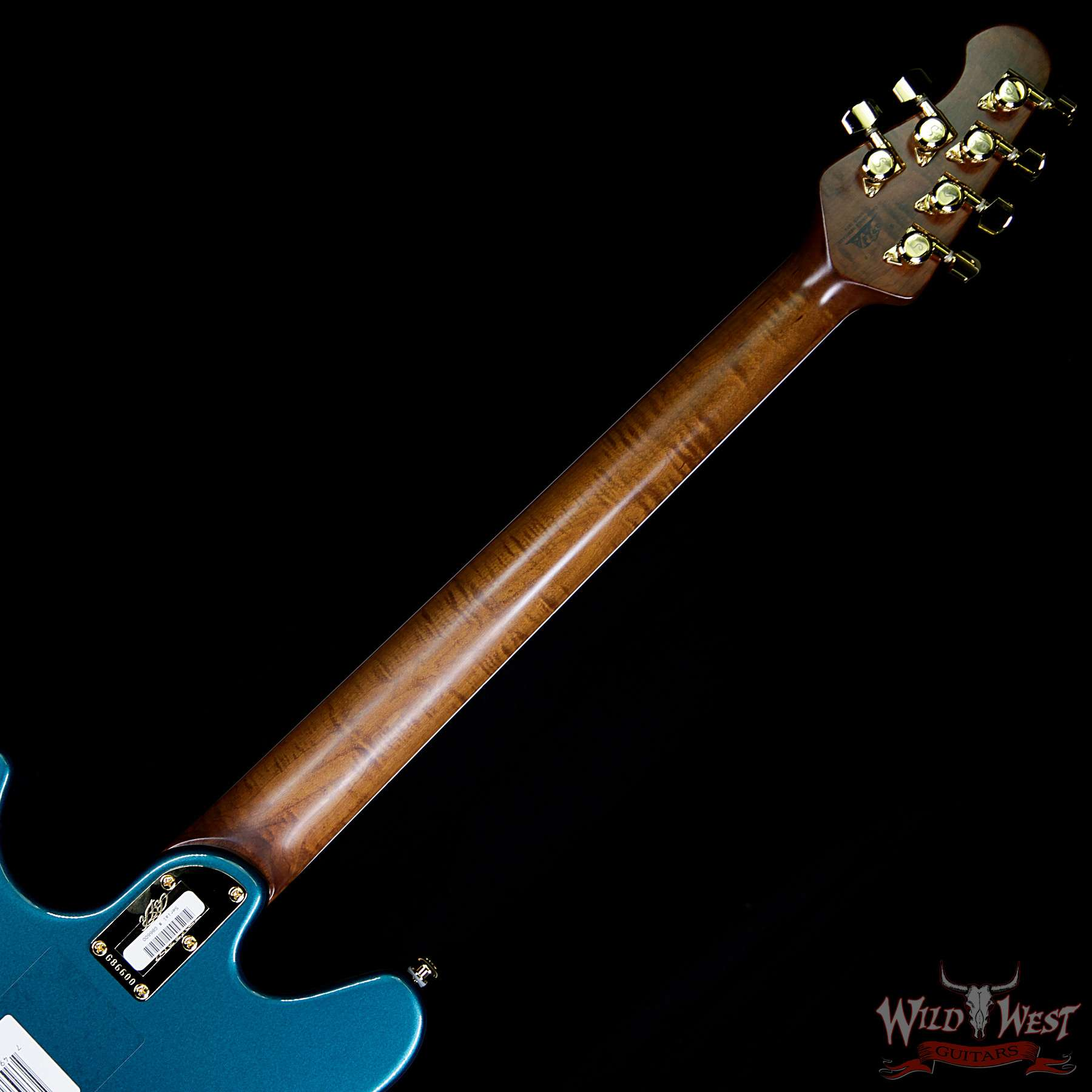 Ernie Ball Music Man Bfr Limited 39 Of 63 Valentine Rosewood Board Roasted Flame Maple Neck Pine Green