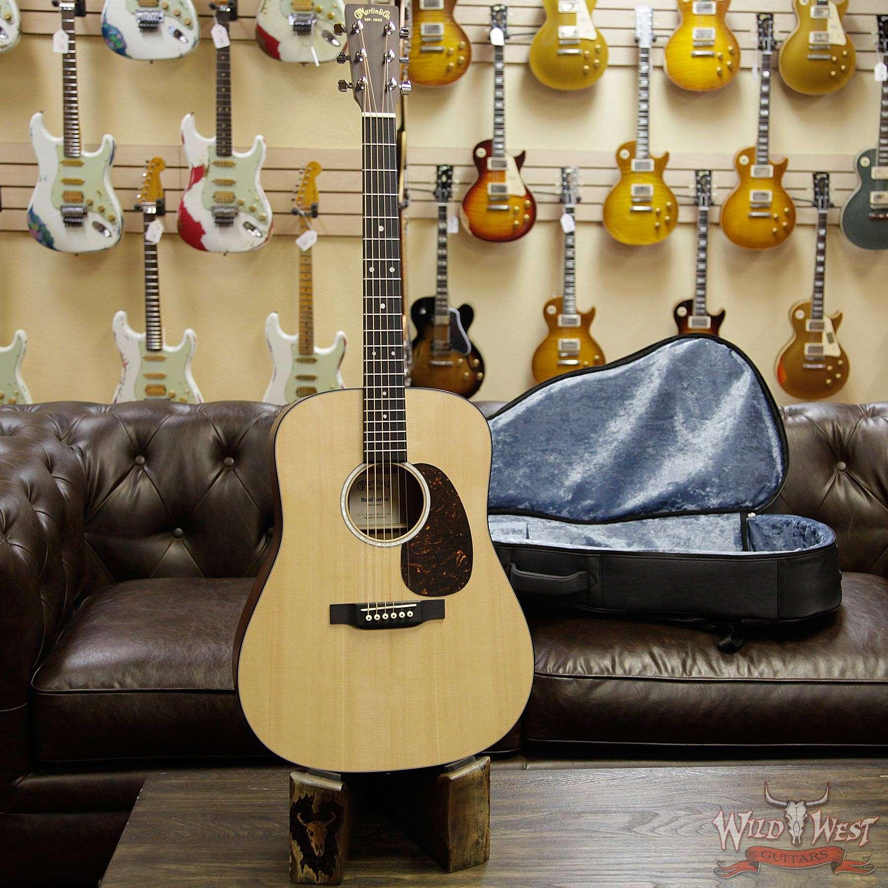 martin road series 2019 d 10e electric acoustic guitar natural wild west guitars. Black Bedroom Furniture Sets. Home Design Ideas