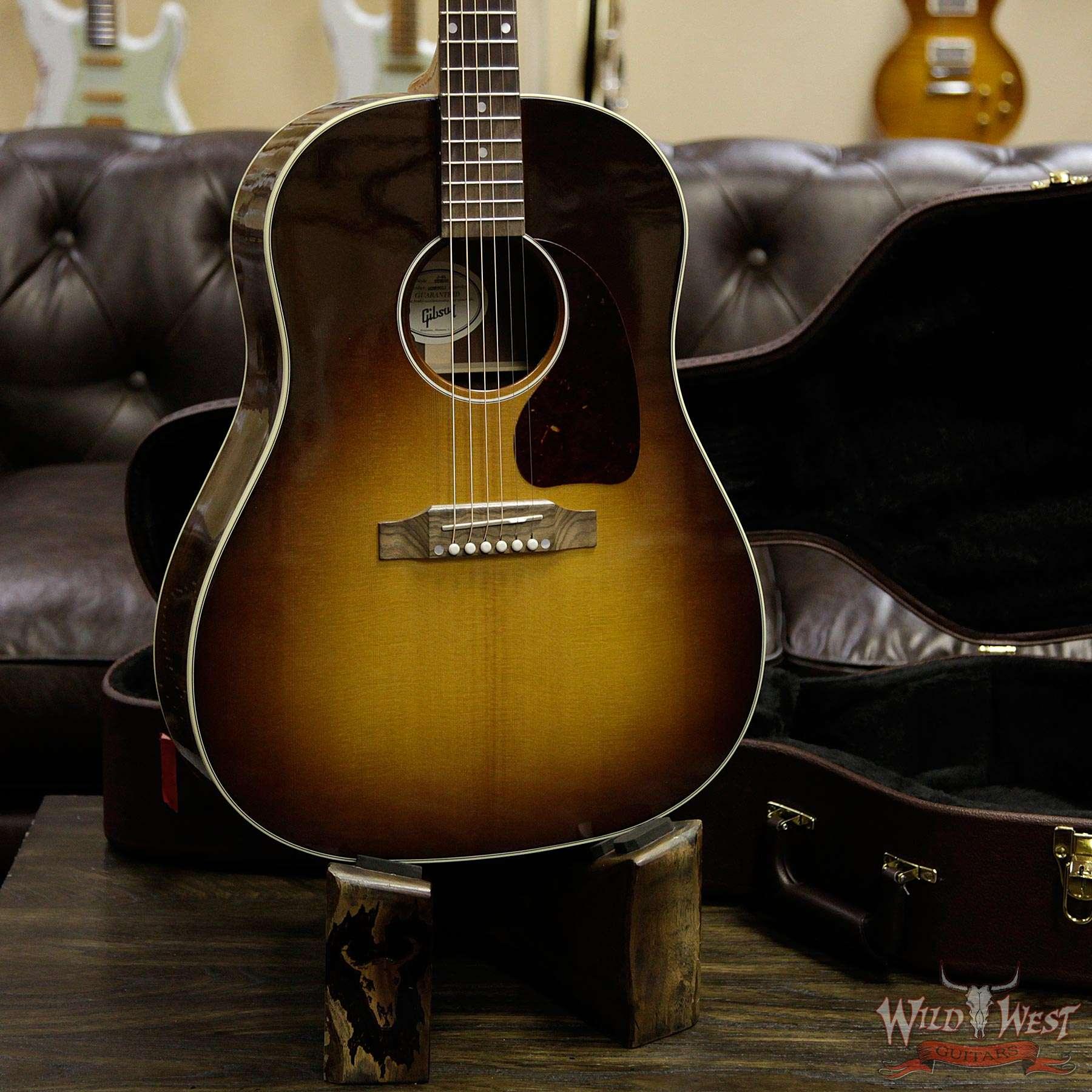 gibson montana j 45 studio walnut burst electric acoustic guitar wild west guitars. Black Bedroom Furniture Sets. Home Design Ideas