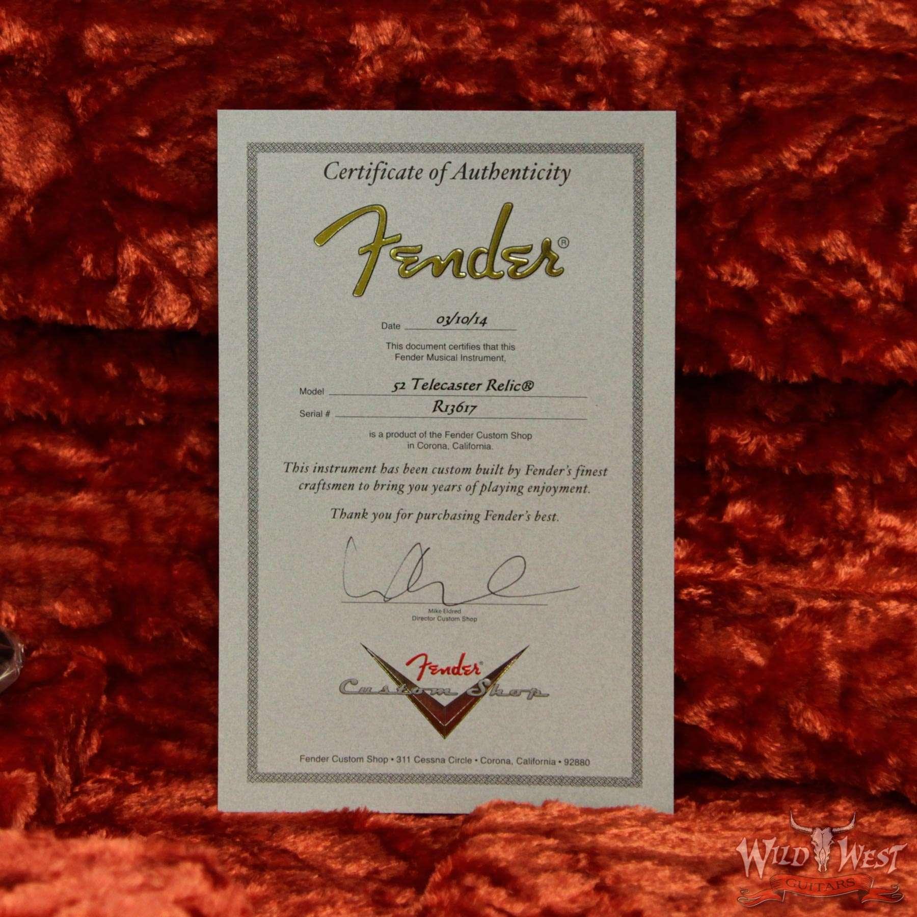 Fender Custom Shop 1952 Telecaster Heavy Relic Copper Streamlined U ...