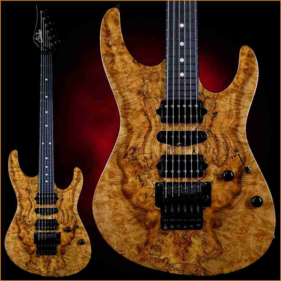 Suhr Dealers :: Suhr Modern HSH Floyd Hand Selected Spalted Maple Top Roaste