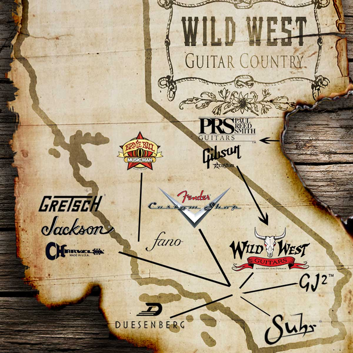 Wild West Guitars - Guitar Country