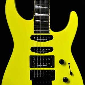 Jackson USA Custom Shop Select SL1 Soloist Neon Yellow #1: Front2