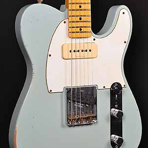 fender 1963 custom p90 relic telecaster faded sonic blue wild west guitars. Black Bedroom Furniture Sets. Home Design Ideas